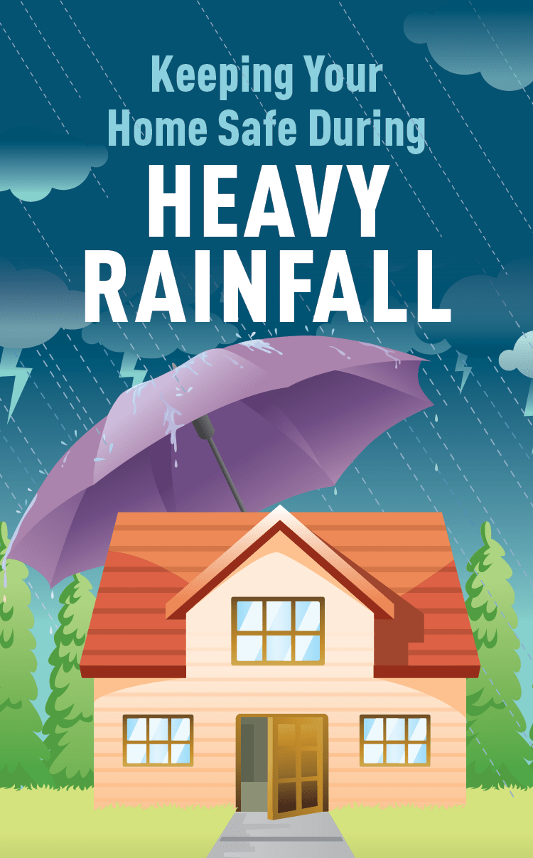 Graphic of house with umbrella.