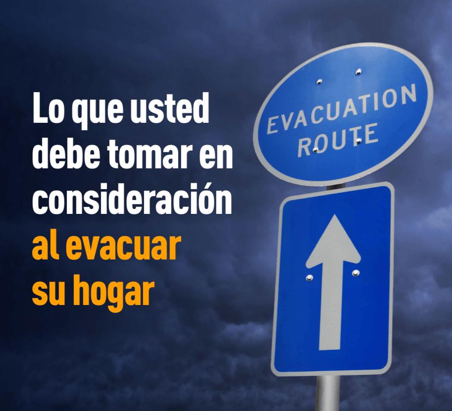 Imagen de una señal de ruta de evacuación