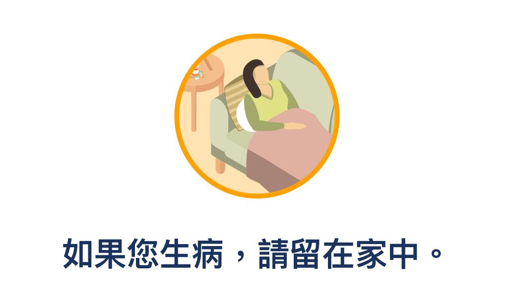 圖片顯示一名生病的女子倒在沙發上
