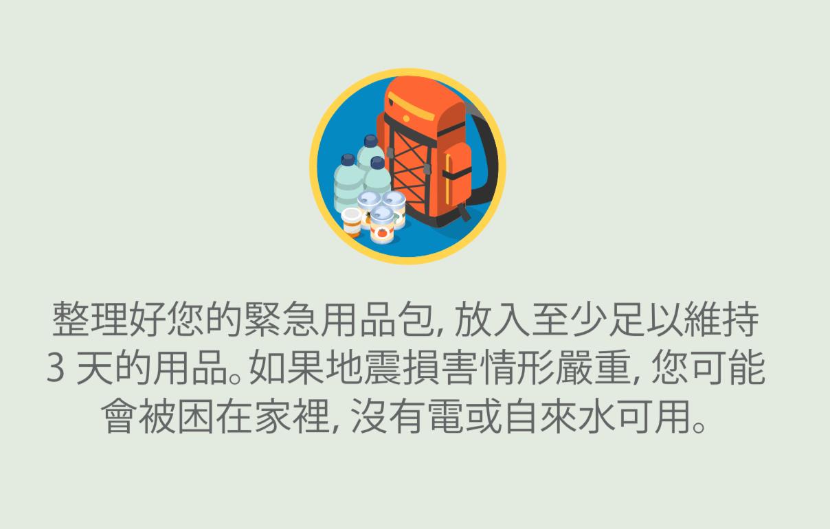 背包和緊急用品的圖示