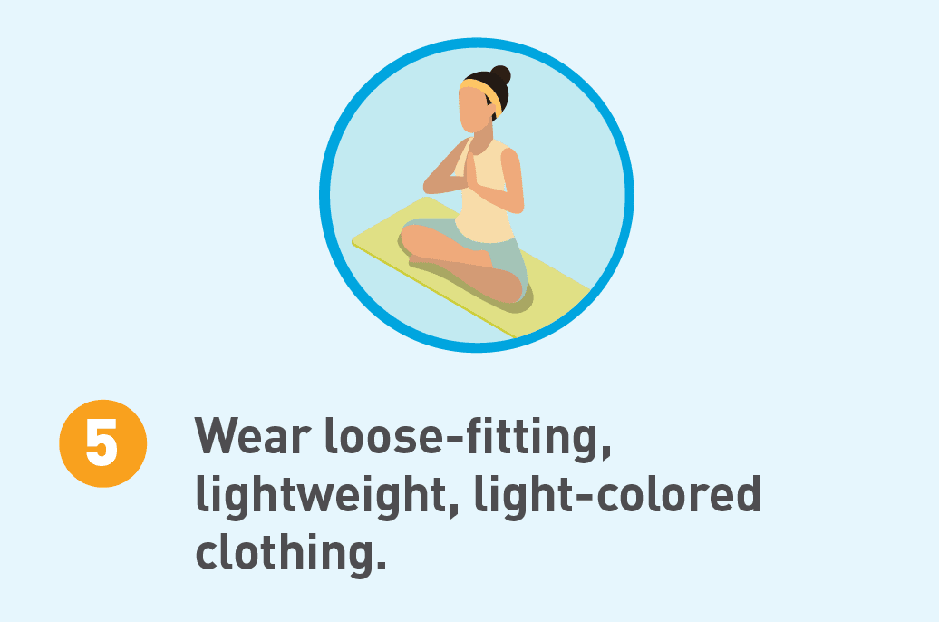 Illustrated icon of a woman in yoga clothes