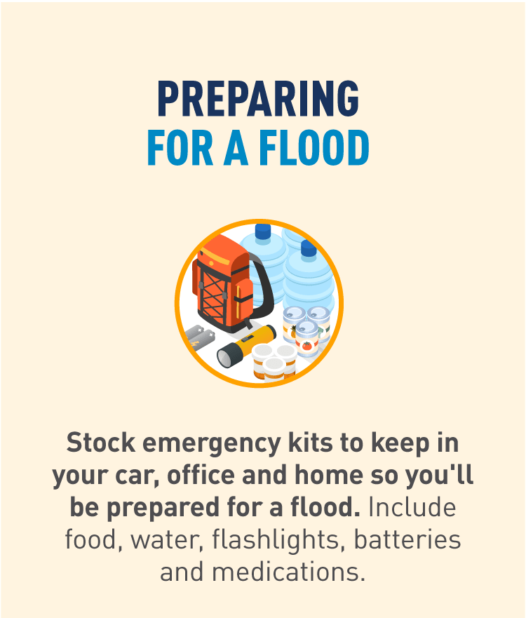 Graphic of emergency supply kit