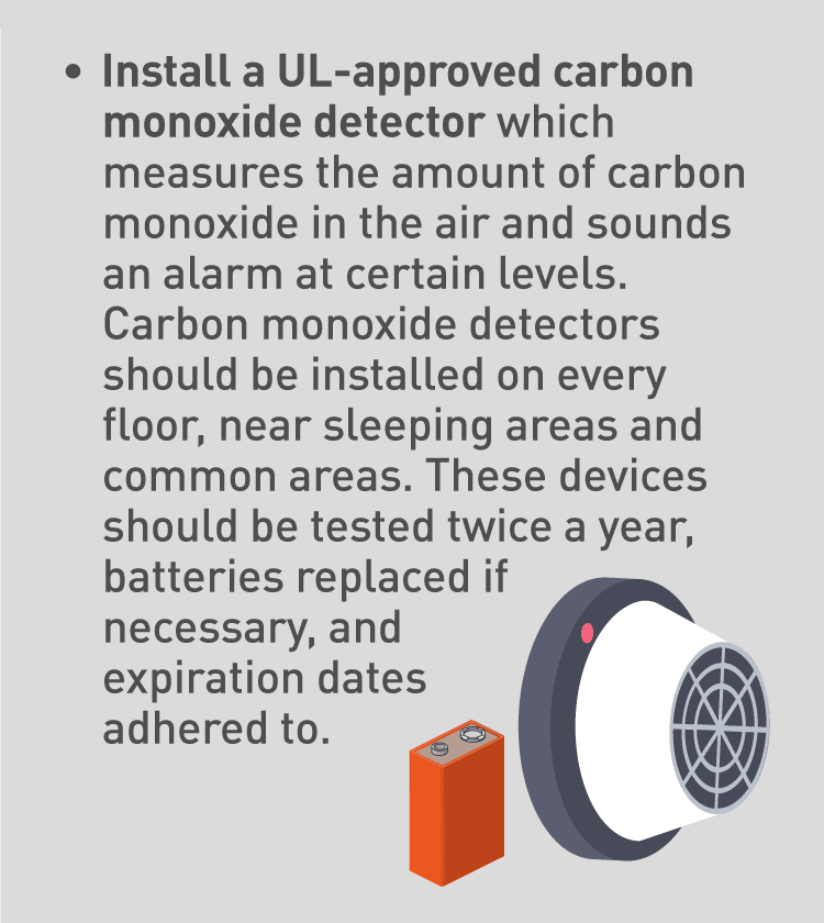 Graphic of carbon monoxide detector