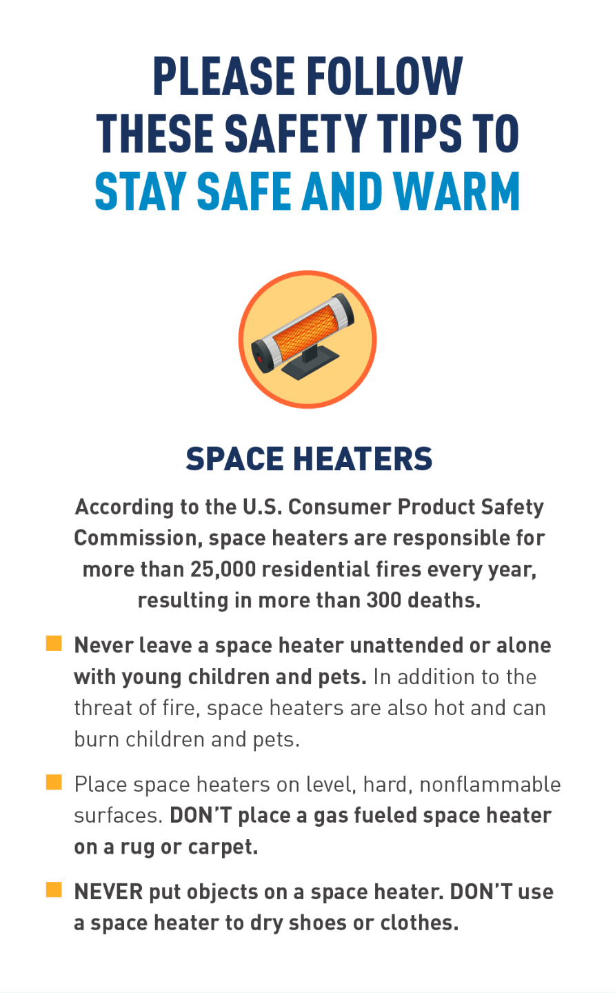Graphic of space heater