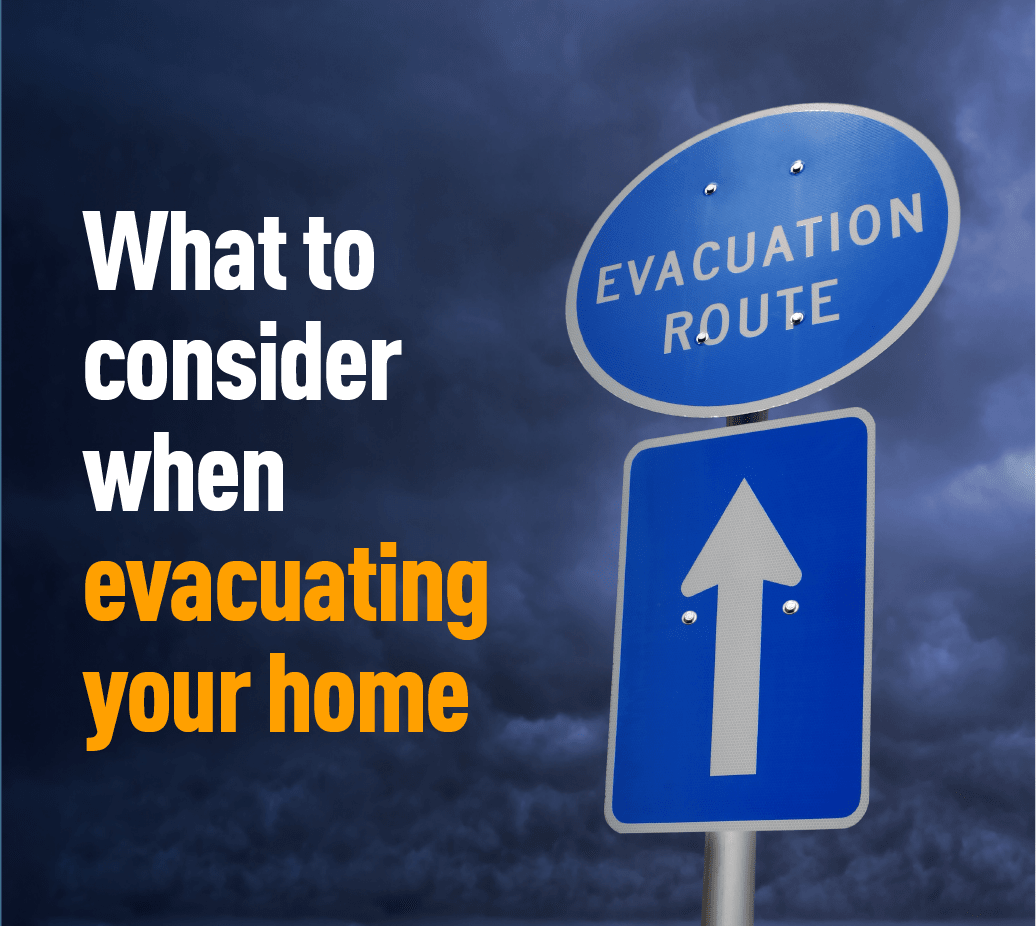 Graphic of evacuation sign