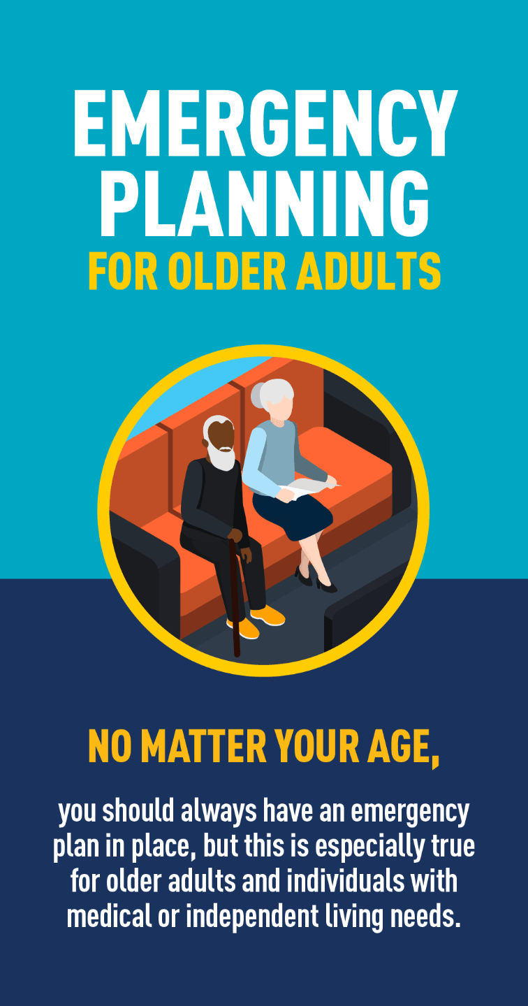 Graphic of elderly man and woman sitting on couch