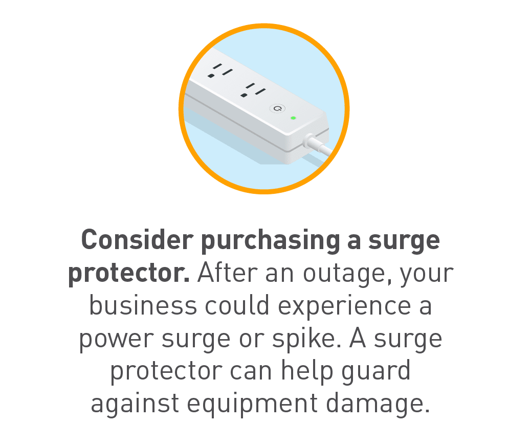 Graphic of surge protector