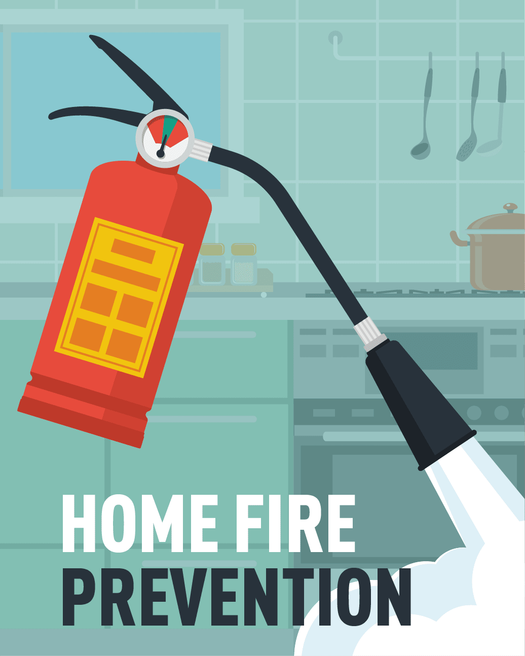 Graphic of fire extinguisher