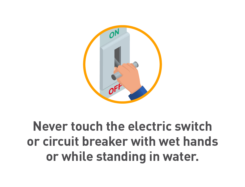 Graphic of hand turning off electricity