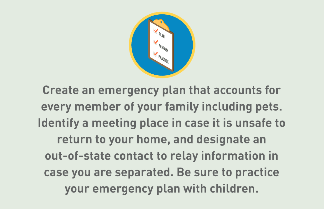 Graphic of emergency plan checklist